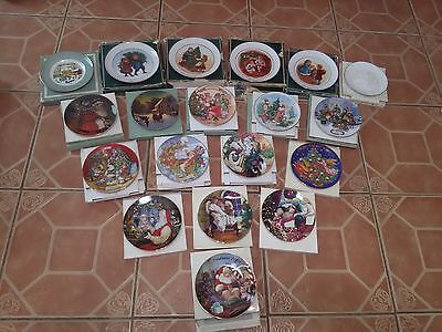 Avon 22k gold Christmas collection plates