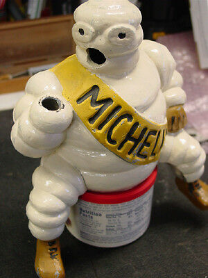 "1920's Michelin Man "" HAND"" Air Compressor, bibendum Antique deco MISSING?- NEW!"