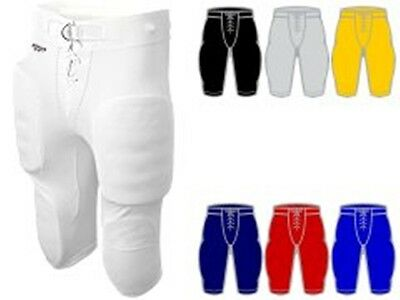 Alleson Athletic Youth Boys Football Practice Pants W/ Snaps W/O Pads 660B