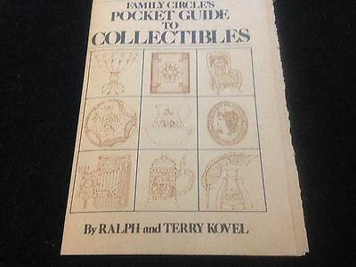 Vintage Family Circle Pocket Guide to Collectibles by Ralph & Terry Kovel 1965