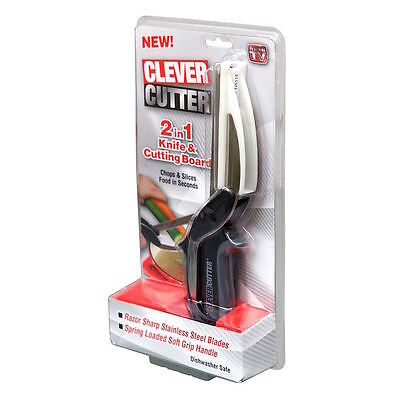 Clever Cutter Kitchen Knife Scissors Chopping Board UK