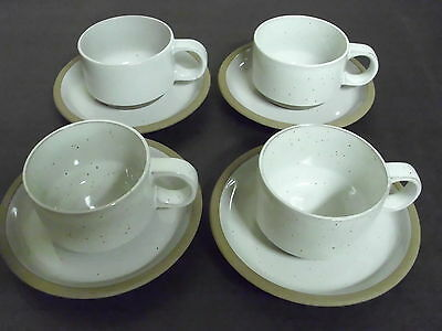 Lot Of 4 Midwinter Natural Cups And Saucers