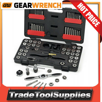 GearWrench 75 Piece SAE/Metric Ratcheting Tap and Die Drive Tool Set 3887