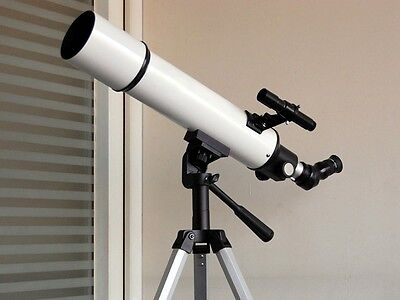 New Astronomical/Spotting Refractor Telescope 80x600mm+Fully Coated PL Eyepieces