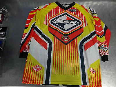 Brand New Msr Mx Motocross Jersey Yellow X-Large