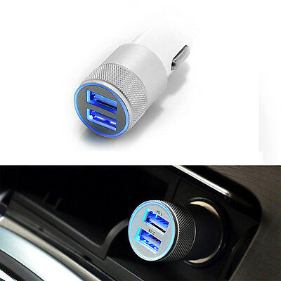 Dual USB 3.1A Car Charger 2 Port Adapter For Smart Mobile Cell Phone Universal V