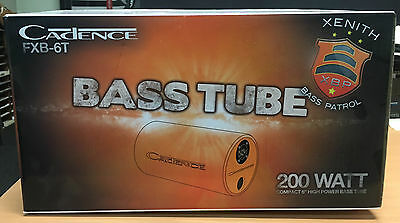 "Cadence 6"" Inch 200W Bass Tube Subwoofer Car Audio Sound System FXB6T"