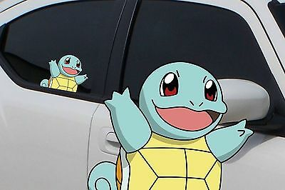 pokemon squirtle anime 7 window car decal sticker pokemon go