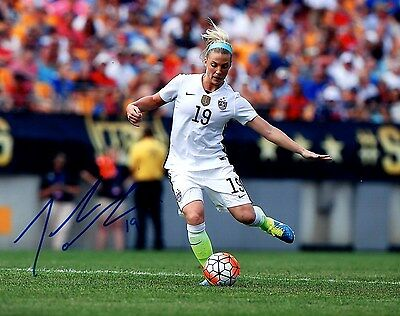 """Julie Johnston USA Soccer hand SIGNED 8x10"""" action photo & EXACT PROOF #3"""