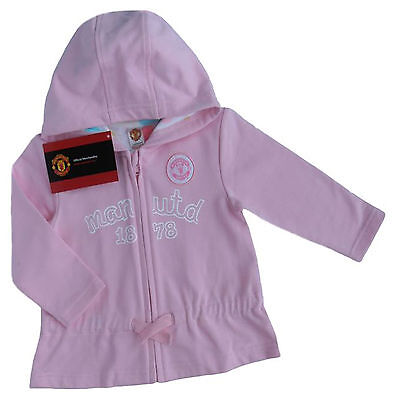 Manchester United,man Utd Fc Baby Girls Hoody Jacket Official Product