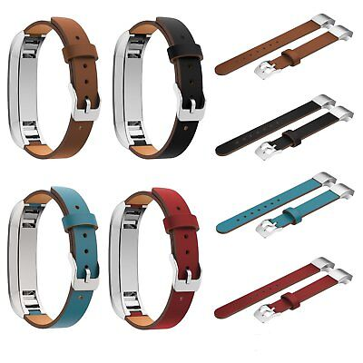Lot Genuine Leather Wrist Band Strap For Fitbit Alta HR Metal Buckle Bracelet