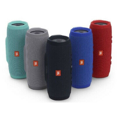 100% Genuine JBL Charge 3 Waterproof Portable Speaker Black Blue Red Teal Grey