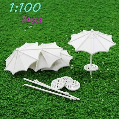 TYS03100 24pcs DIY parasol Model Train Railway Vertical Common Gifts 1:100 TT