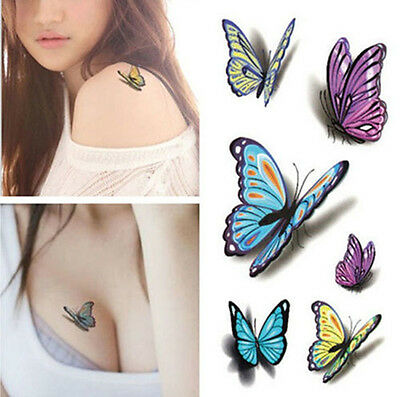 Waterproof 3D Removable Temporary Arm Fake Body Art tattoo sticker up