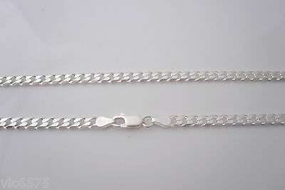 Italy Solid 925 Sterling silver CURB chain, 5mm wide, unisex necklace