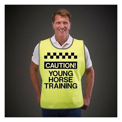 Tabards Printed Caution Young Horse Training Safety Wear For Horse Riding