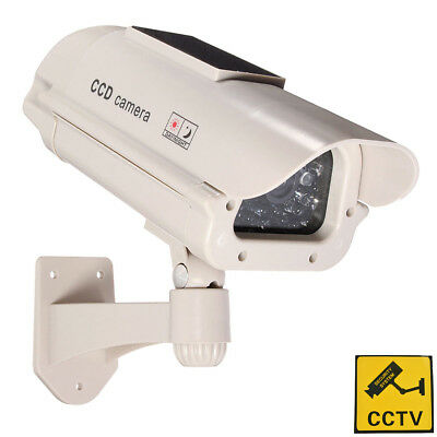 Phot-R Solar Powered Dummy Camera CCTV Surveillance Security Cam Fake IR LED