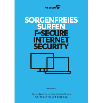 F-Secure Internet Security 2019, 3 PCs, 1 Year License - NEW DOWNLOAD VERSION
