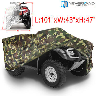 Waterproof Quad Bike ATV UTV Cover Protector Universal for Yamaha Honda 3XL Camo