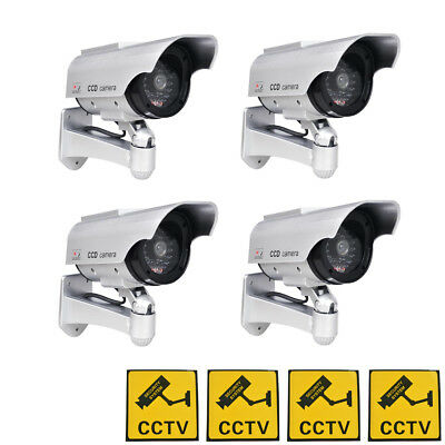 Phot-R Solar Powered Dummy Camera CCTV Security Surveillance Cam Fake IR LED