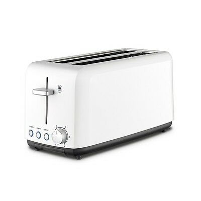 Kambrook Toaster Perfect Fit Wide Slot White 4 Slice KTA140WHT