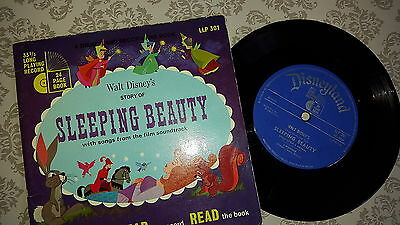 "Disney - Sleeping Beauty Record and Book - 7"" Single UK Vintage 1968 LLP 301"