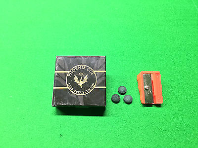 Phoenix Black Laminated Tips For Snooker Or Pool