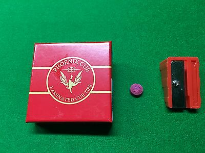 Phoenix Red Laminated Tips For Snooker Or Pool