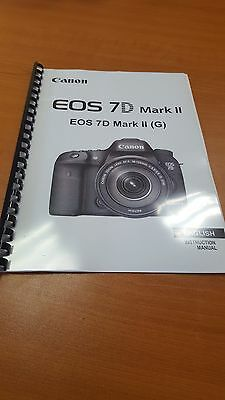 Canon Eos 7D Mark Ii Full User Manual Guide Instructions Printed 550 Pages A5