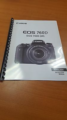 Canon Eos 760D Full User Manual Guide Instructions Printed 430 Pages A5
