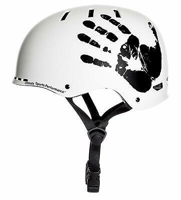 """Sport Direct™ """"The Hand™"""" White Bicycle Bike Cycle BMX Helmet"""