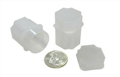 Sturdy Holders DIME Coin Safe Square Plastic Coin Tubes Lot of 20