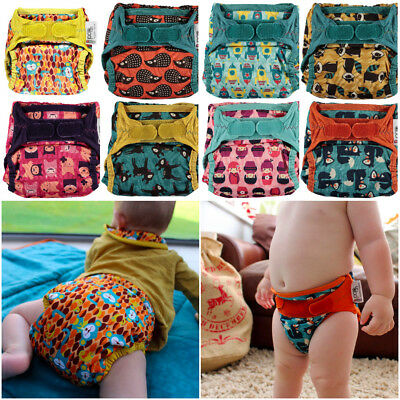 Close Parent Pop in Bamboo Printed Nappy VALUE PACK OF 5 Deer Hedgehog Squirrel
