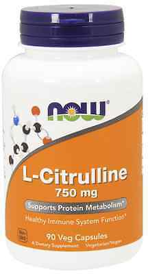 Now Foods L-Citrulline Cardiovascular Health 750 mg 90 Caps