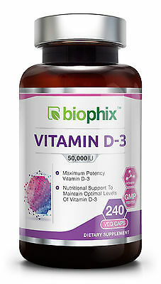 Biophix Vitamin D-3 Supplement 50,000 IU 240 Vcaps