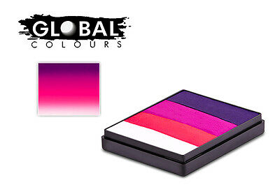 Global Colours 50g Oxford Rainbow Cake, Professional Face & Body Paint Party