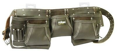 Rolson Oil Tan Topgrain Heavy Duty  Leather Double Pocket Toolpouch *new Range*