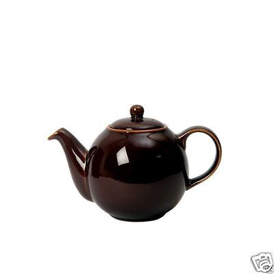 London Pottery Globe Traditional China Teapot ~ 2 4 6 10 cup ~ Rockingham Brown