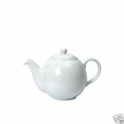 London Pottery Globe Traditional China Teapot ~ 2 4 6 10 cup ~ White