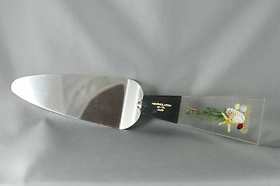 Clear Lucite Stainless Cake Pie Server Mentholatum 40 Yrs Club Nautical