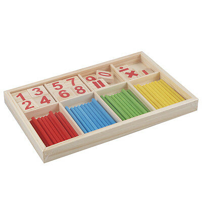 Baby Wooden Counting Math Game Mathematics Toys Stick FlyP