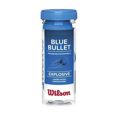 Wilson Blue Bullet Performance Racquetballs 3 Pack New Free USA Shipping