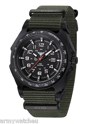 Infantry Men's Tactical Military Watch KHS Sentinel Analog Date German Watch