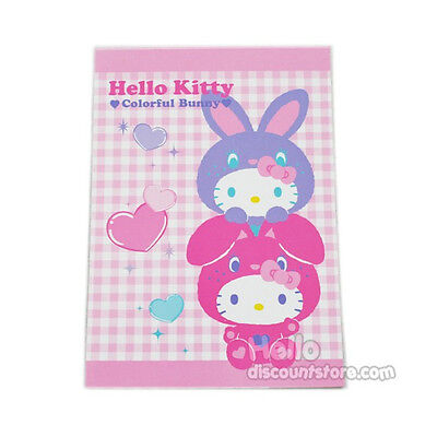 Hello Kitty Medium Memo Note / Pad : Colorful Bunny