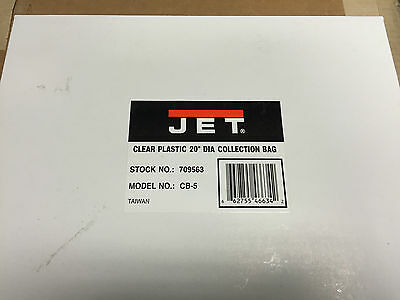 """JET Clear Plastic 20"""" Diameter Collection Bag for DC-1100VX and DC-1200VX"""