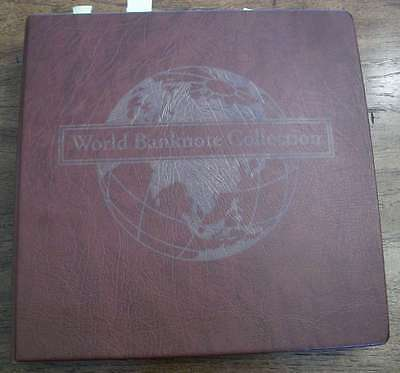 World Banknote Collection 240 UNC banknotes 68 countries in album 200+ pages