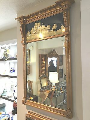 beautiful Federal style gilt mirror home decor Art elegant style  furnishings