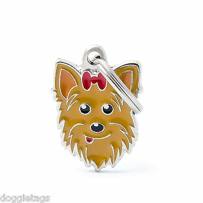 Yorkshire Terrier Dog ID Tag - Engraved FREE - Personalised - Charm - Keyring
