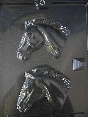 2 Large Horse Head Food Safe/Plaster/soap Moulds... #A086