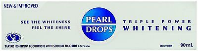 PEARL DROPS Triple Power Whitening Toothpaste, 90ml x2 two TUBES